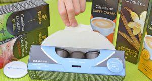 Welche Arten von Kaffeepads gibt es in einem Test?
