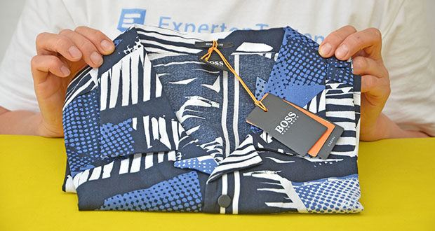 BOSS Herren Rhythm Regular-Fit Hemd im Test - Farbe: Dark Blue 404