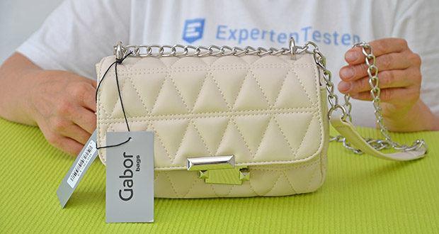 Gabor Damen Katja Flap Bag im Test - eine unauffälligere Kombi in weißem glattem Material
