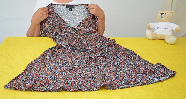 MERAKI Damen Mini A-Linien-Kleid im Test - Wickeloberteil mit Bändern an der Taille für eine perfekte Passform