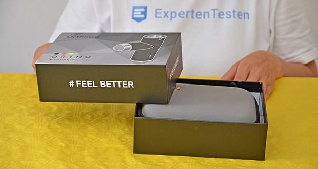 Orthomechanik OM-Go Massagepistole Mini im Test - extrem leise: unter < 45 dB Geräuschpegel