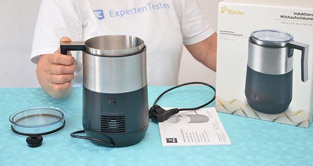 Tchibo Induktions-Milchaufschäumer Im Test - Maße: Höhe: ca. 20 cm, Durchmesser: ca. 13 cm