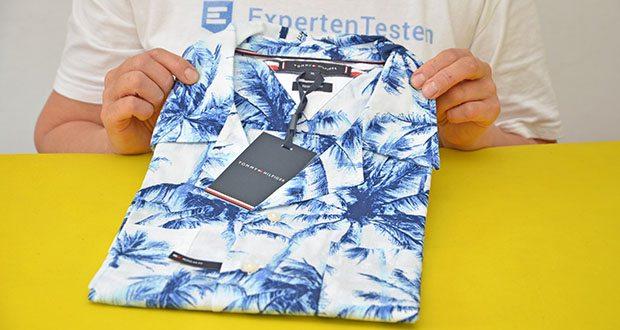 Tommy Hilfiger Herren Large Water Color Palm Hemd im Test - dies ist ein originales und authentisches Tommy Hilfiger Produkt