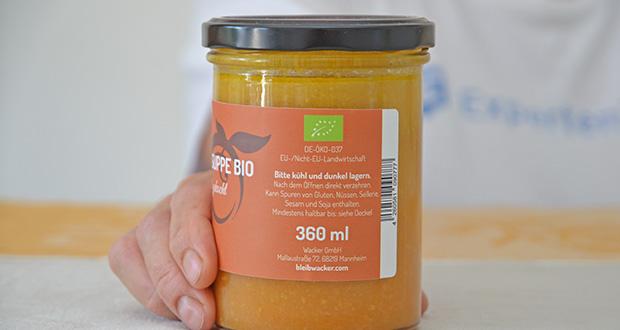 Wacker Bio Karotte-Ingwer Suppe im Test - wird zu 100% aus naturbelassenen Bio-Zutaten hergestellt und kommt hervorragend ohne tierische Produkte aus