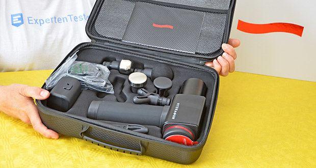 Hydragun Massagepistole im Test - inklusive wasserdichtem Hartschalenkoffer