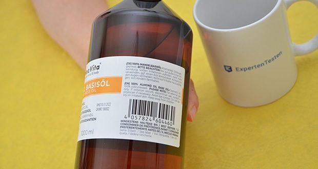 MeaVita Mandel Basisöl im Test - enthält die Vitamine A, B1, B2, B6 und E