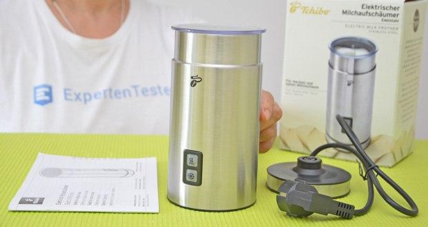 Tchibo Elektrischer Milchaufschäumer Edelstahl im Test - Maße: Höhe: ca. 20 cm