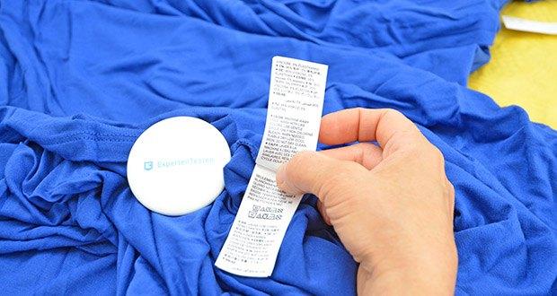Amazon Essentials Damen Maxikleid mit gedrehter Vorderseite im Test - Pflegehinweis: Maschinenwäsche