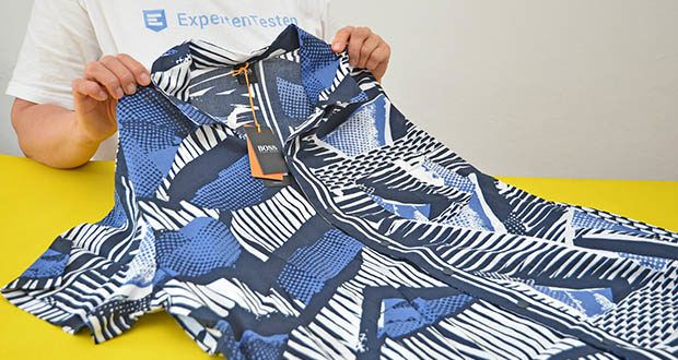 BOSS Herren Rhythm Regular-Fit Hemd im Test - mit Oversized Print