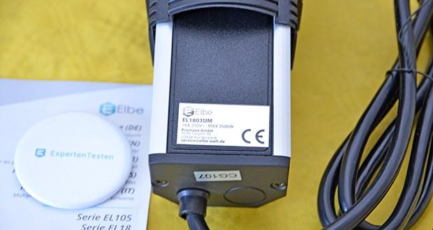 Elbe Inno versenkbare Tischsteckdosenleiste im Test - mit einem besonders dicken Kabel ausgestattet (1,50 mm)