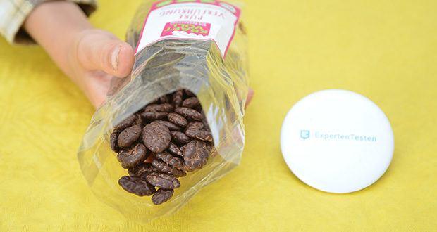 KRAFTVOLL Bio Schoko-Kürbiskerne im Test - plastikfrei; vegan; nachhaltig