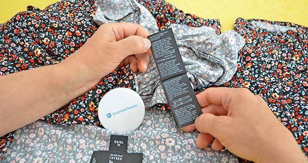MERAKI Damen Mini A-Linien-Kleid im Test - Pflegehinweis: Maschinenwäsche kalt (30°C max)