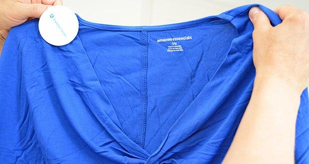 Amazon Essentials Damen Maxikleid mit gedrehter Vorderseite im Test - 95% Viskose, 5% Elasthan