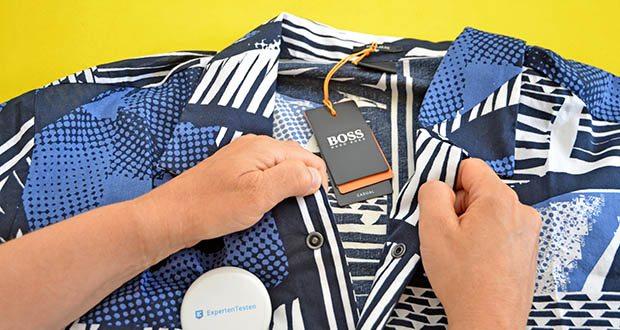 BOSS Herren Rhythm Regular-Fit Hemd im Test - 55% Baumwolle, 45% Viskose