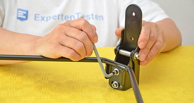 URBAN ZWEIRAD Fahrrad Wandhalterung PLUVIA im Test - kann mit dem beigelegten Montagematerial angebracht werden