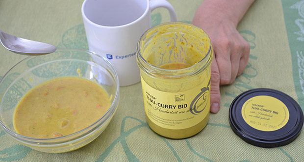 Wacker Bio Thai-Curry Suppe im Test - mit Reis, Nudeln oder einfach als Suppe genießen