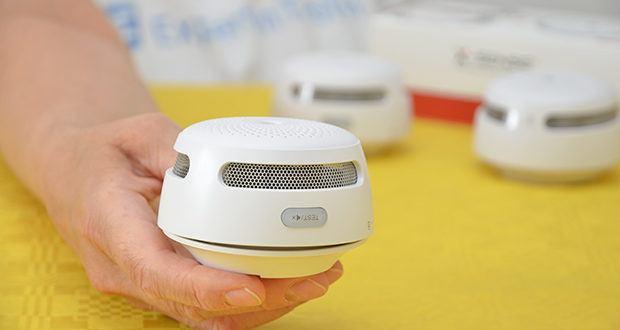 X-Sense Mini Funkvernetzbarer Rauchmelder 3-Pack im Test - ein integrierter Schirm verhindert effektiv, dass Insekten den Melder beschädigen