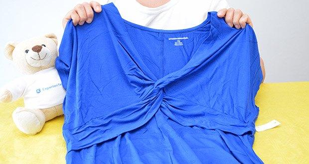 Amazon Essentials Damen Maxikleid mit gedrehter Vorderseite im Test - weicher, glatter, luxuriöser Jersey-Stoff der wunderschön fällt