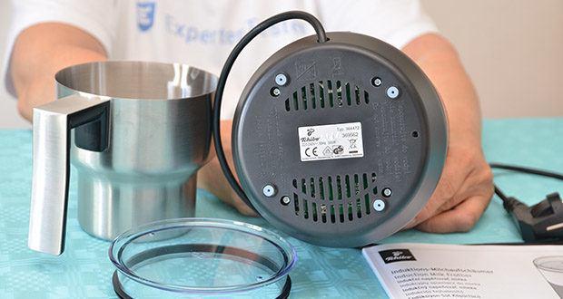 Tchibo Induktions-Milchaufschäumer Im Test - rutschhemmende Silikonfüße