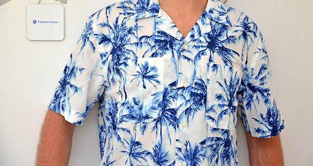 Tommy Hilfiger Herren Large Water Color Palm Hemd im Test - großes wasserfarbiges Handinnenhemd
