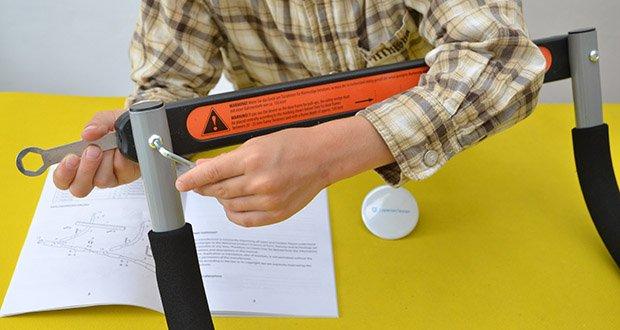 Ultrasport Klimmzugstange im Test - für Türrahmen mit einer Breite von ca. 61 bis max. 81 cm und einer Tiefe von 12 bis 16 cm
