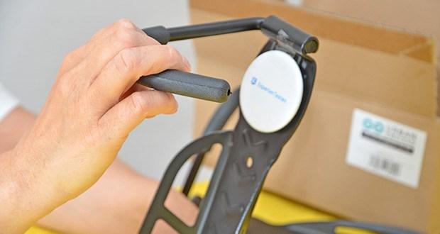 URBAN ZWEIRAD Fahrrad Wandhacken SPATIUM im Test - der Kunstoffüberzug schützt ihren Reifen und sorgt dafür, dass Ihr Fahrrad schadenfrei verstaut wird