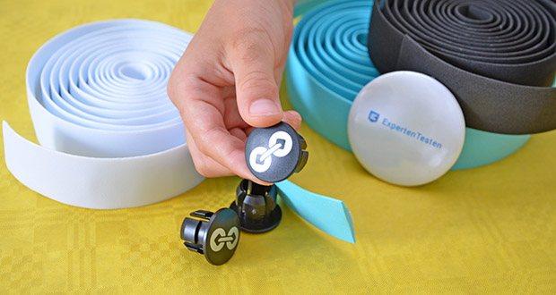 URBAN ZWEIRAD Lenkerbänder im Test - die Lenker Endstopfen bestehen aus robustem, widerstandsfähigem und langlebigem Kunststoff