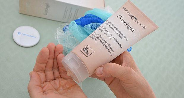 Wacker Duschgel im Test - unterstützt mit seinem leicht basischen pH-Wert das Säure-Basen-Gleichgewicht der Haut
