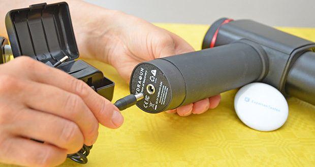 Hydragun Massagepistole im Test - Akku-Kapazität: 2600 mAh