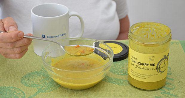 Wacker Bio Thai-Curry Suppe im Test - echte Handarbeit wie selbst gekocht