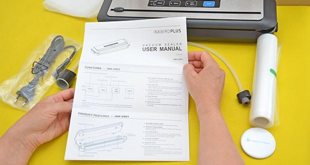 Inkbird Vakuumiergerät INK-VS01 im Test - wenn Sie weiche oder saftige Gegenstände versiegeln, frieren Sie die Gegenstände am besten einige Stunden lang ein, bevor Sie diese vakuumieren