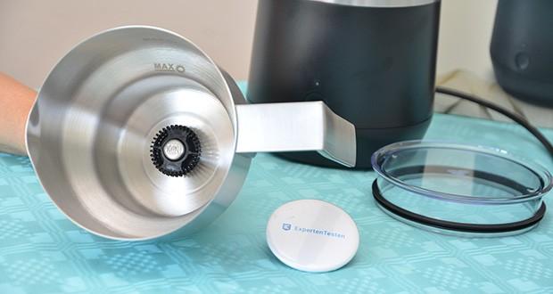 Tchibo Induktions-Milchaufschäumer Im Test - Füllmengenmarkierung auf der Innenseite