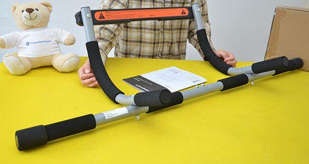 Ultrasport Klimmzugstange im Test - geeignet für ein optimales Oberkörpertraining zur Stärkung der Bauch- und Armmuskulatur, zum Muskelaufbau sowie zur Isolierung und Kräftigung der zentralen Rückenmuskulatur