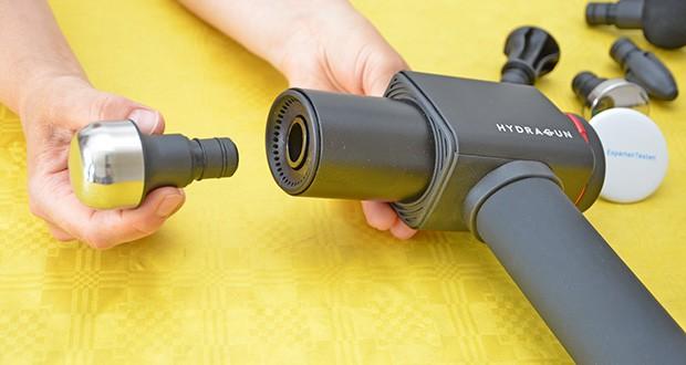 Hydragun Massagepistole im Test - maximale Drehzahl: 3200 U/min