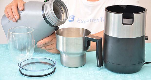 Tchibo Induktions-Milchaufschäumer Im Test - Füllmenge: max. 260 ml kalte Milch aufschäumen, bzw. max. 500 ml kalte Milch erwärmen