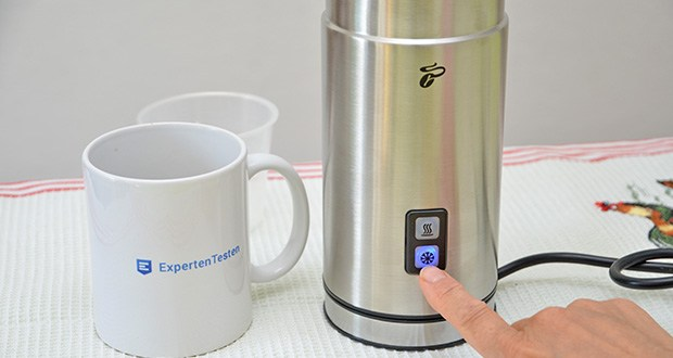 Tchibo Elektrischer Milchaufschäumer Edelstahl im Test - für die Zubereitung von warmen und kaltem Milchschaum - einfach per Knopfdruck