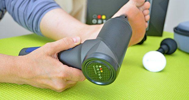 Orthomechanik OrthoGun 2.0 Massagepistole im Test - effektiv gegen Migräne, Rücken- & Nackenschmerzen
