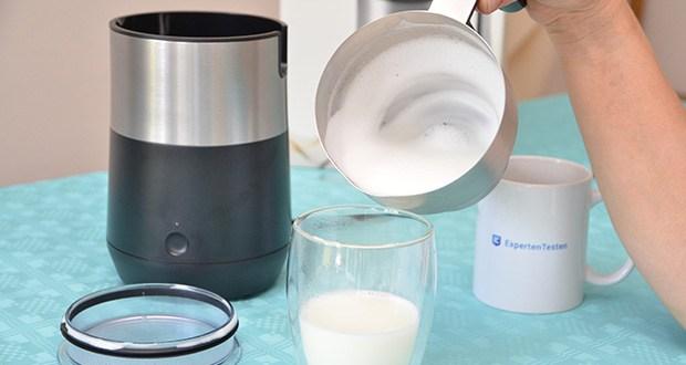 Tchibo Induktions-Milchaufschäumer Im Test - perfekter Milchschaum in nur wenigen Sekunden