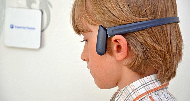 Mu6 Ring Open Ear Kabellose Kopfhörer im Test - hat ein offenes Ohr-Design, das nicht in die Ohren geht oder bedeckt und bequem getragen werden kann