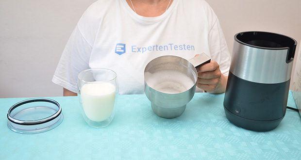 Tchibo Induktions-Milchaufschäumer Im Test - überzeugt nicht nur optisch, sondern auch durch seine Funktionsweise