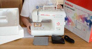 Welche Arten von Nähmaschinen gibt es in einem Test?