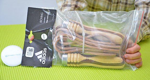 adidas Pro Springseil im Test - Produktabmessungen: 2 x 10 x 6 cm; Gewicht: ca. 200 g