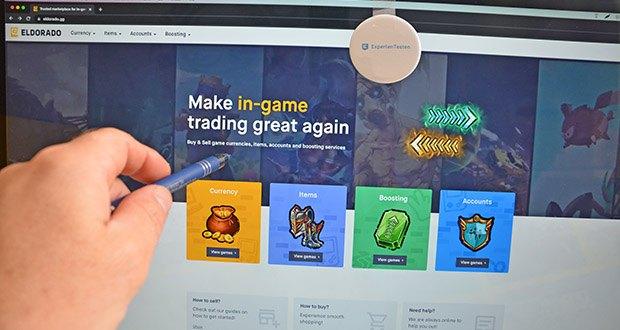 Eldorado.gg - Ankauf & Verkauf von Spielwährungen im Test - bietet den Spielern die Möglichkeit, Spielwährungen, Items und Accounts zu kaufen und zu verkaufen