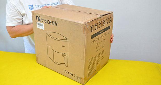 Proscenic T22 Heißluftfritteuse im Test - Artikelabmessungen: 36.1 x 27.1 x 30.6 cm; Gewicht: 5.2 kg