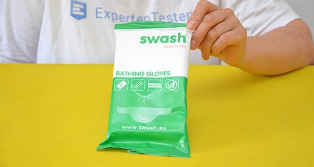 Seniorgo Swash Golden Gloves Waschhandschuhe im Test - weiche, feuchte Waschhandschuhe