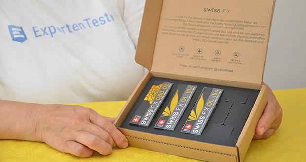 SWISS FX CBD Öl Set 5/10/15% im Test - Versand im neutralen Versandkarton