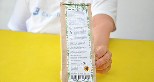 Nachtwaechter Relaxtee aus Hanf-Mischung im Test - bio-zertifiziert und vegan (EU)