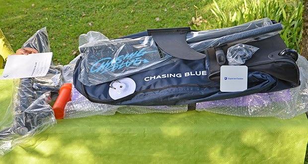 Outdoor Master Violet Spirit iSUP Board im Test - Abmessungen: Länge 320 cm, Breite: 76 cm, Hohe: 12 cm; Gewicht: 9,14 kg
