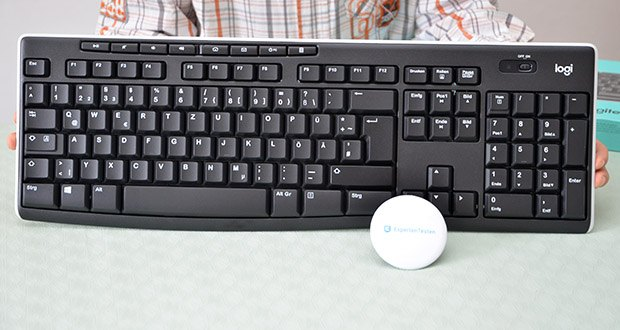 Logitech K270 Kabellose Tastatur im Test - stabile, UV-beschichtete Tasten