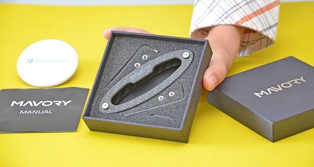 Mavory Carbon Schlüssel Organizer im Test - edle Geschenkbox; perfekt als Geschenk